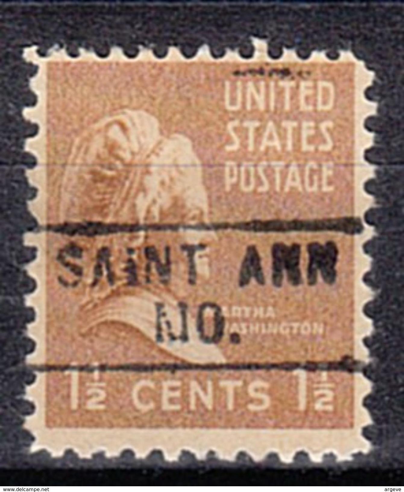 USA Precancel Vorausentwertung Preo, Locals Missouri, Saint Ann 745 - Vereinigte Staaten