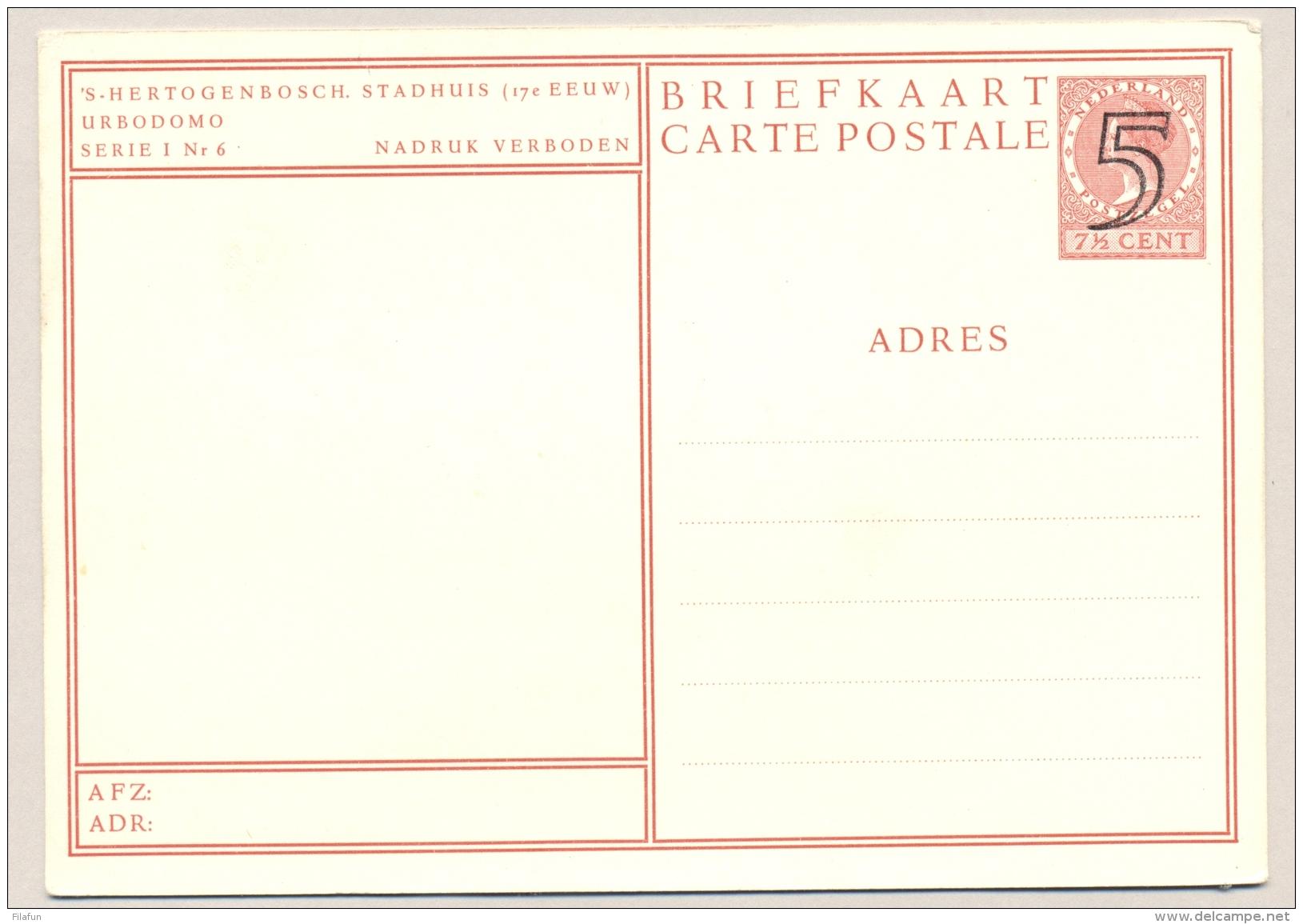 Nederland - 1946 - 's Hertogenbosch Stadhuis- Foto-briefkaart G284b Ongebruikt - Entiers Postaux