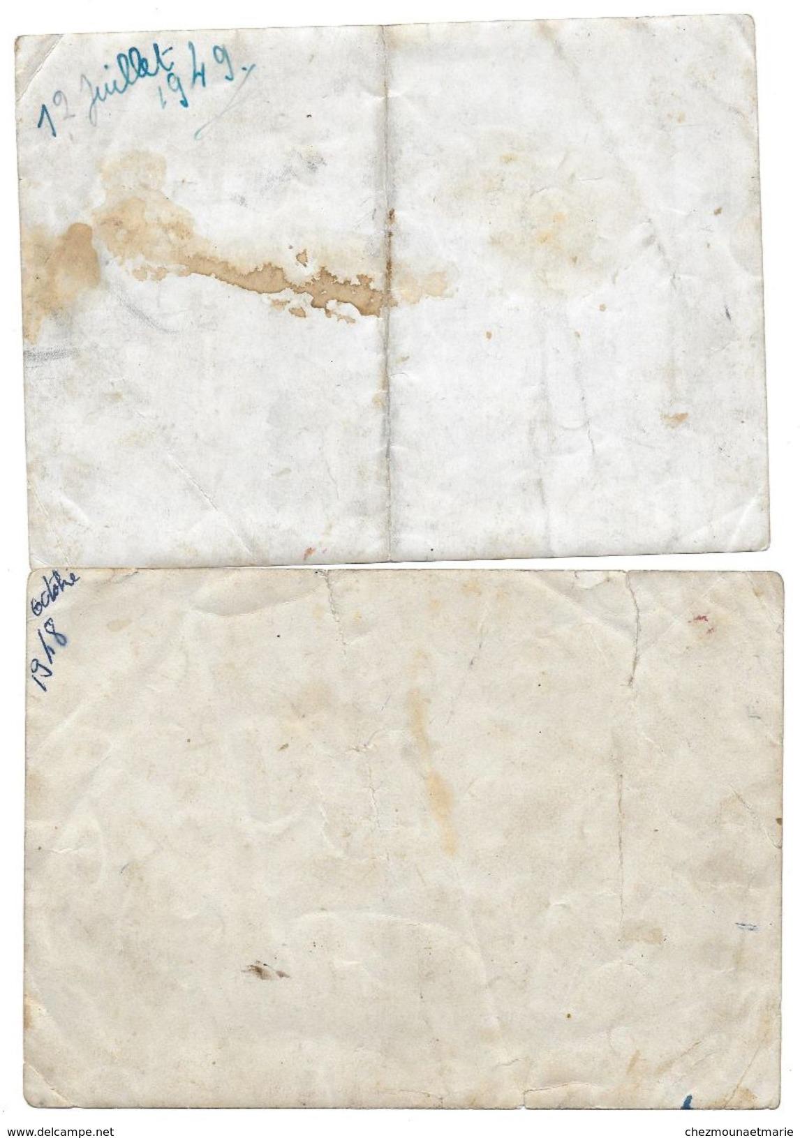 ECOLE STE SAINTE THERESE 1948 1949 - PHOTOS DE CLASSE DE JEUNES FILLES - LOT DE 2 - 18 X 13 CM - Personnes Anonymes