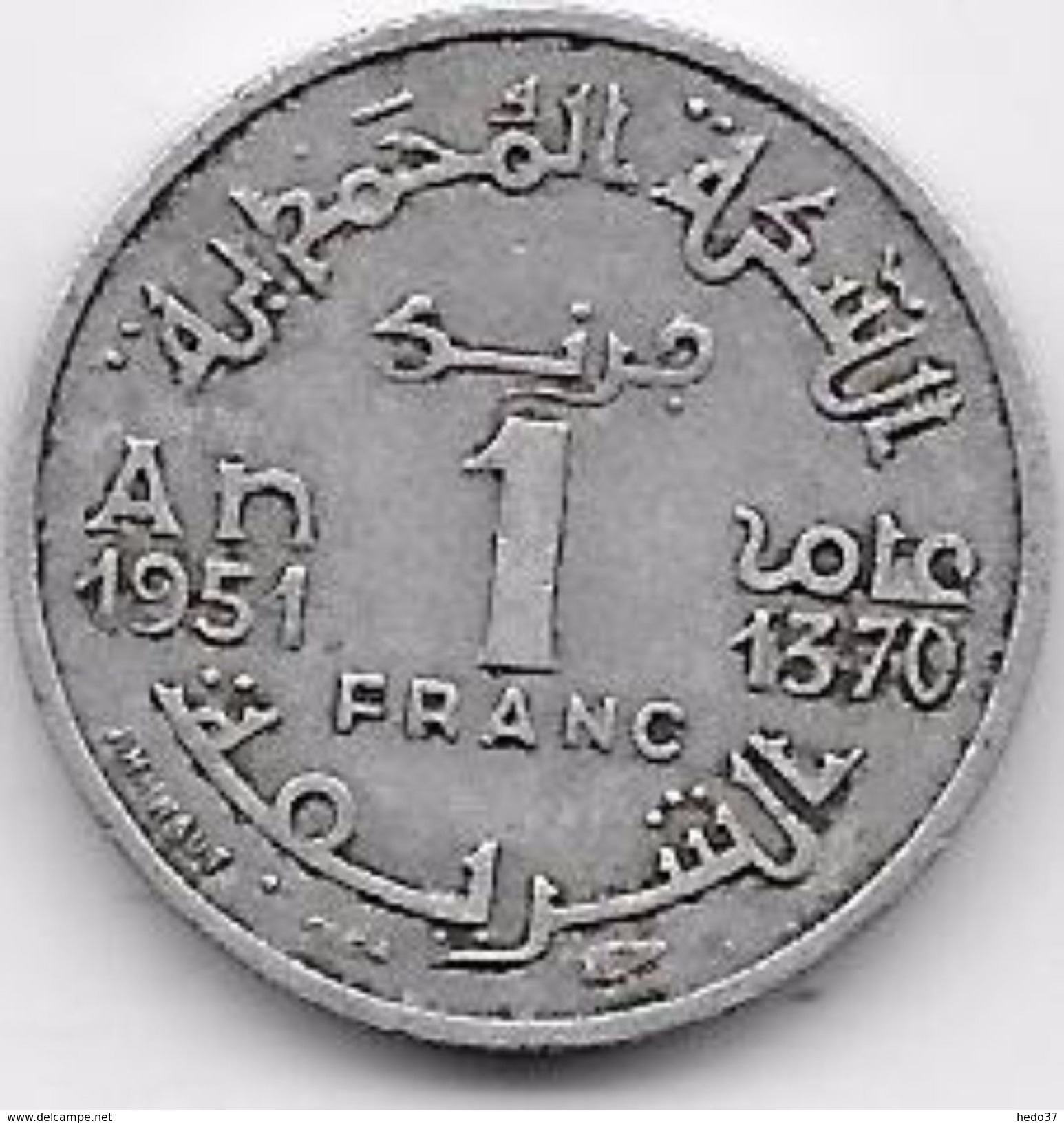 Maroc 1 Franc 1370 - Maroc