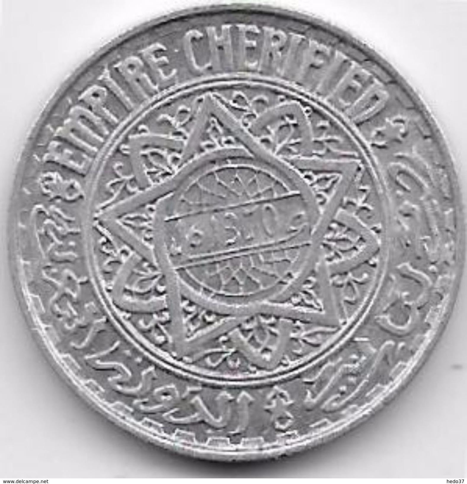 Maroc 5 Francs Empire Cherifien Aluminium - Maroc