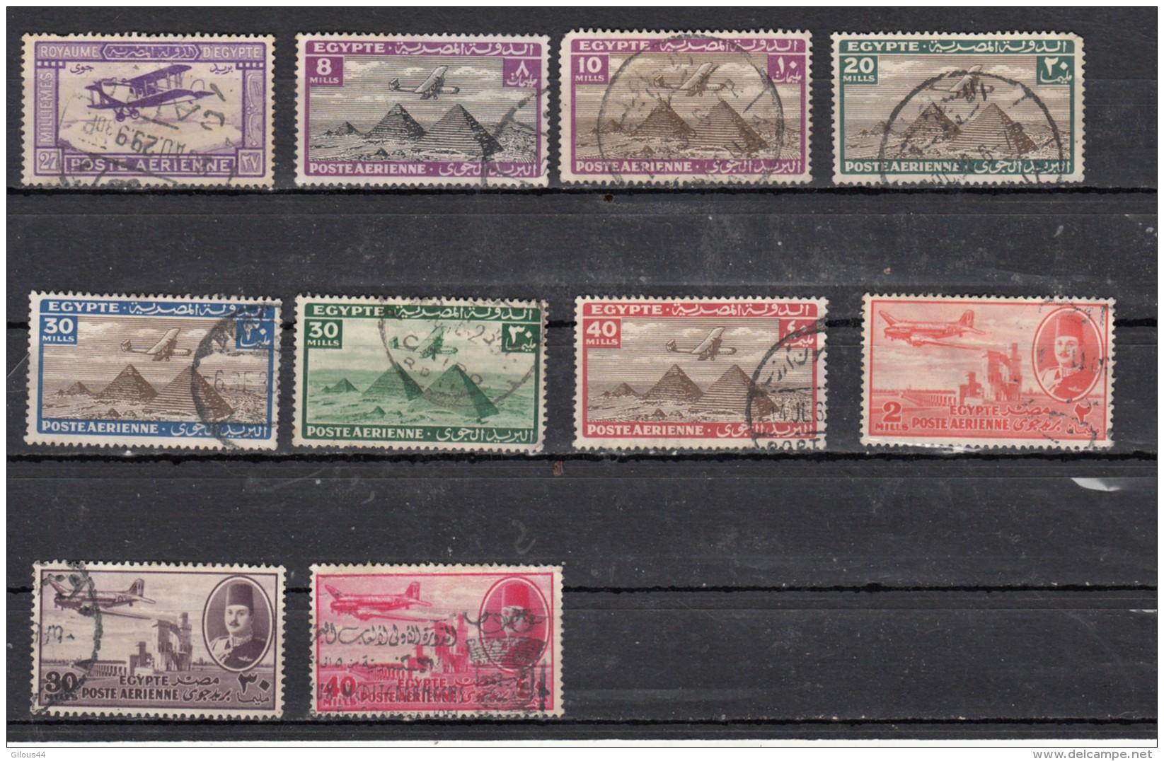 Egypte   Poste Aèrienne  10 Valeurs - Poste Aérienne