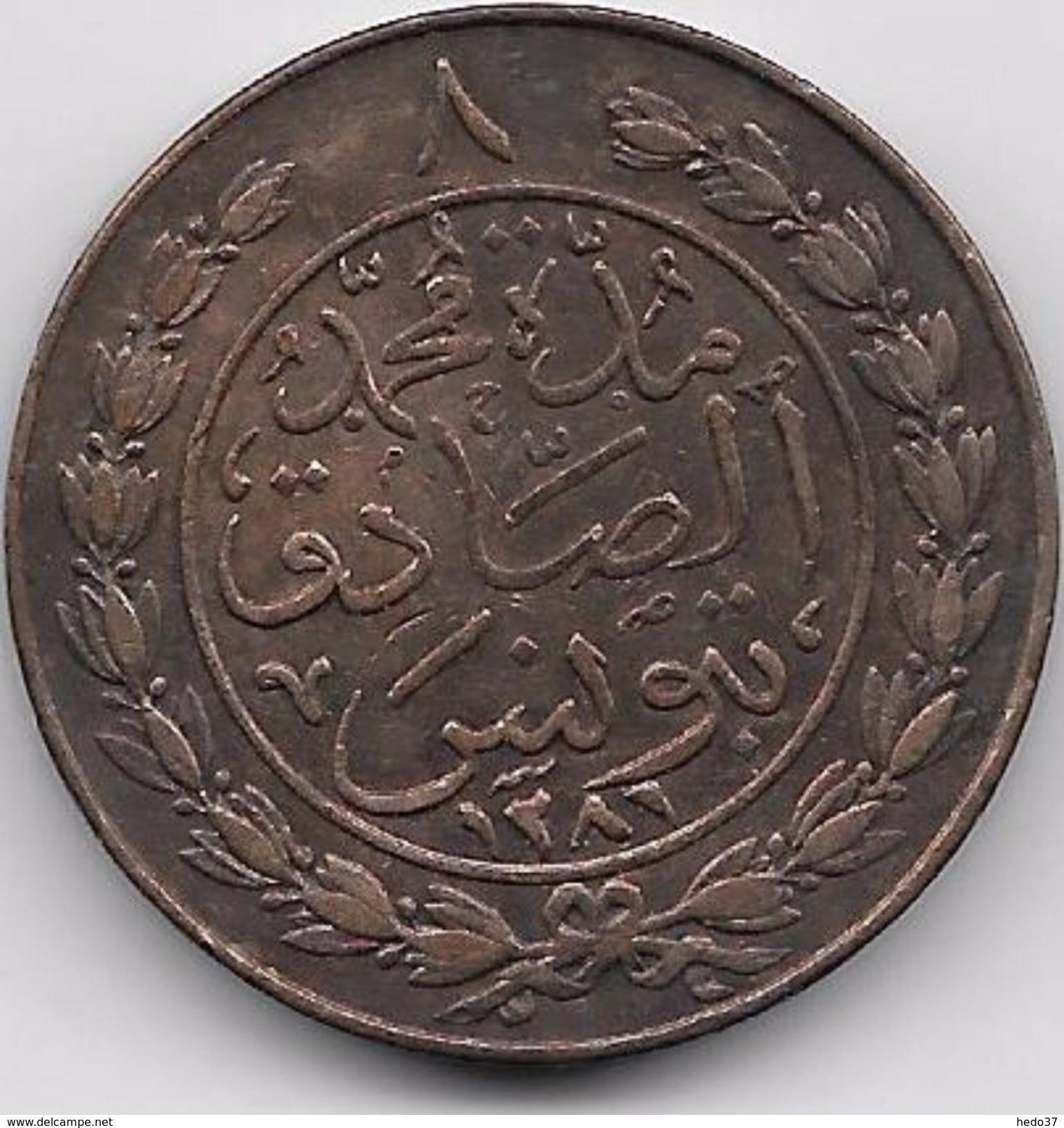 Tunisie 8 Kharub - 1281 - Monnaies