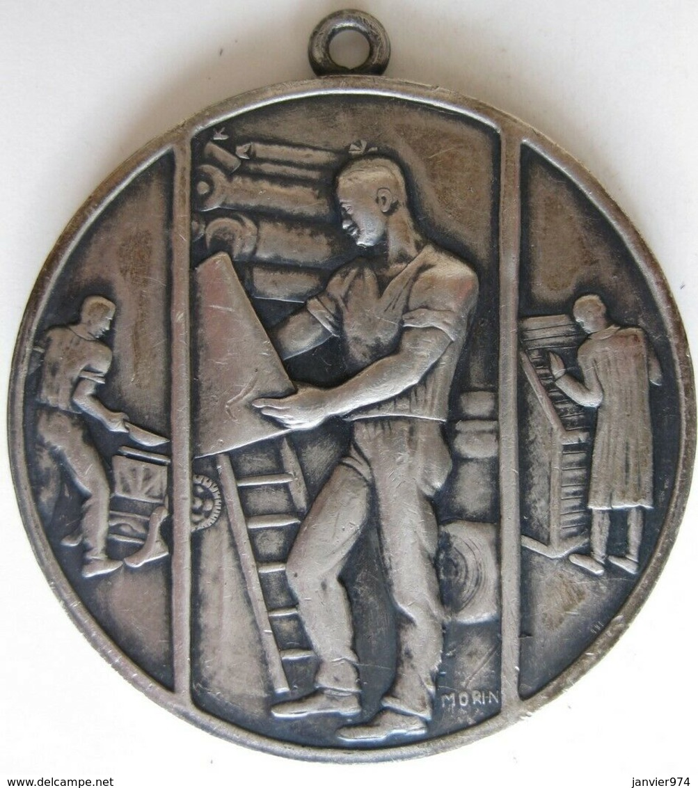 Silbermedaille Deutsches Reich, Deutscher Buchdruckerverein – Typographe, Par Morin - Allemagne