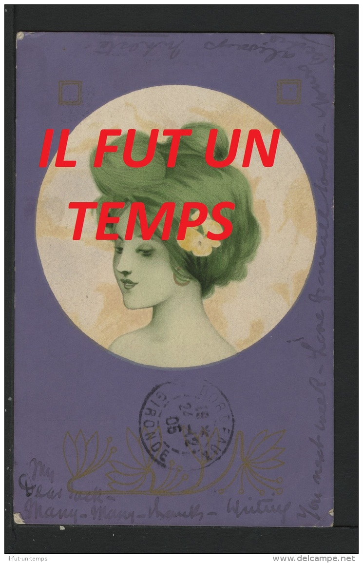 KIRCHNER RAPHAEL - PORTRAIT DE FEMME - BORDS VIOLET - Kirchner, Raphael
