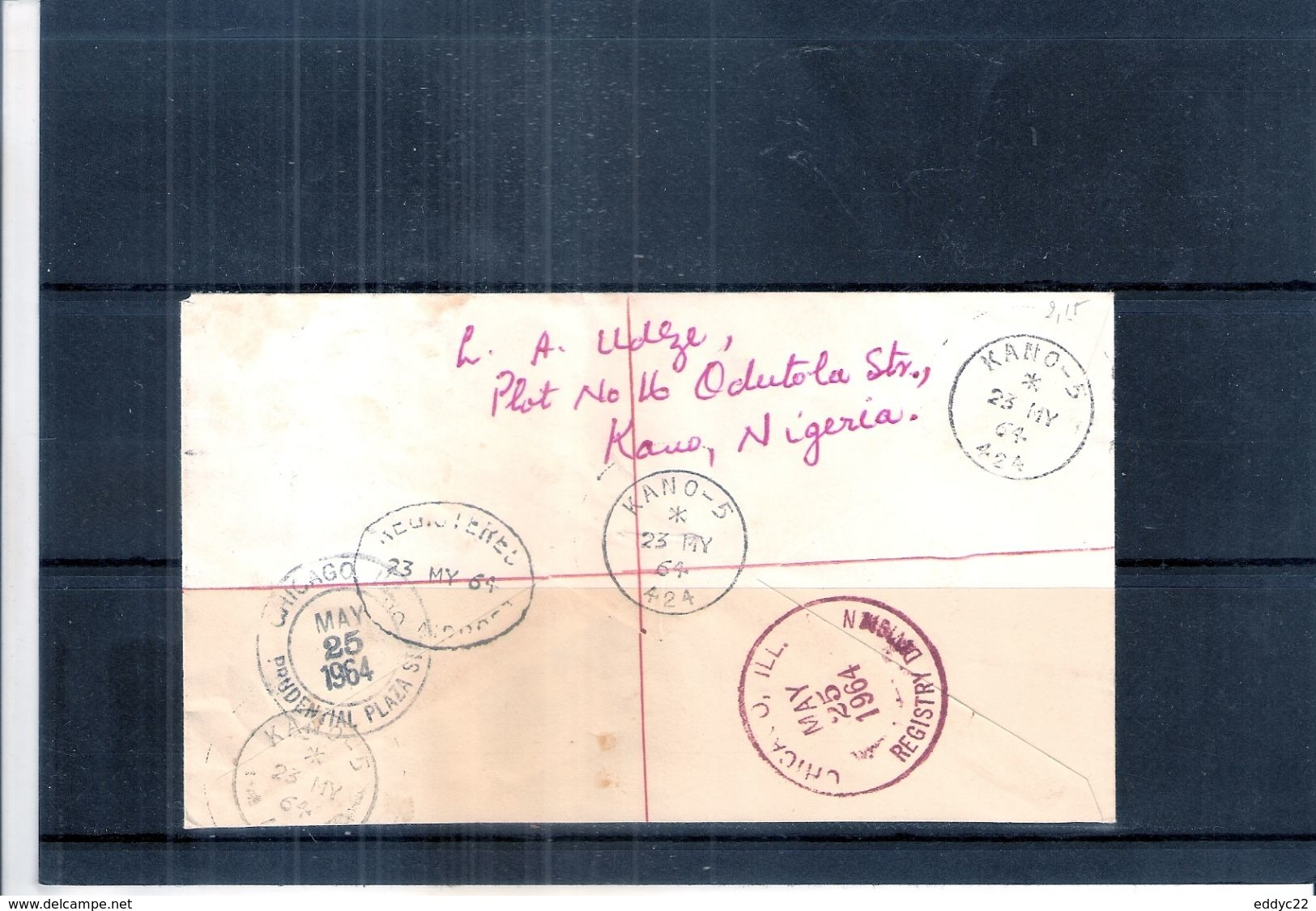 Lettre Recommandée Du Nigéria Vers U.S.A. - 1964 (à Voir Recto-verso) - Nigeria (1961-...)