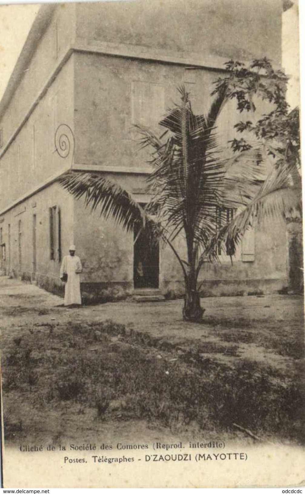 Postes Télégraphes D'ZAOUDZI  (MAYOTTE) Recto Verso - Comores