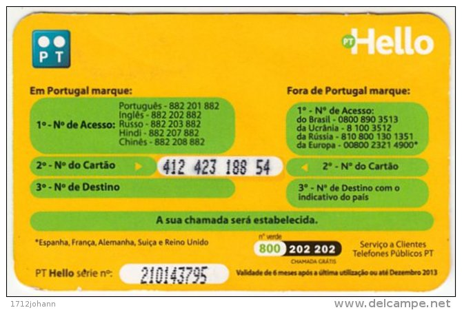 PORTUGAL A-841 Prepaid PT - People, Woman, Brasil - Used - Portugal