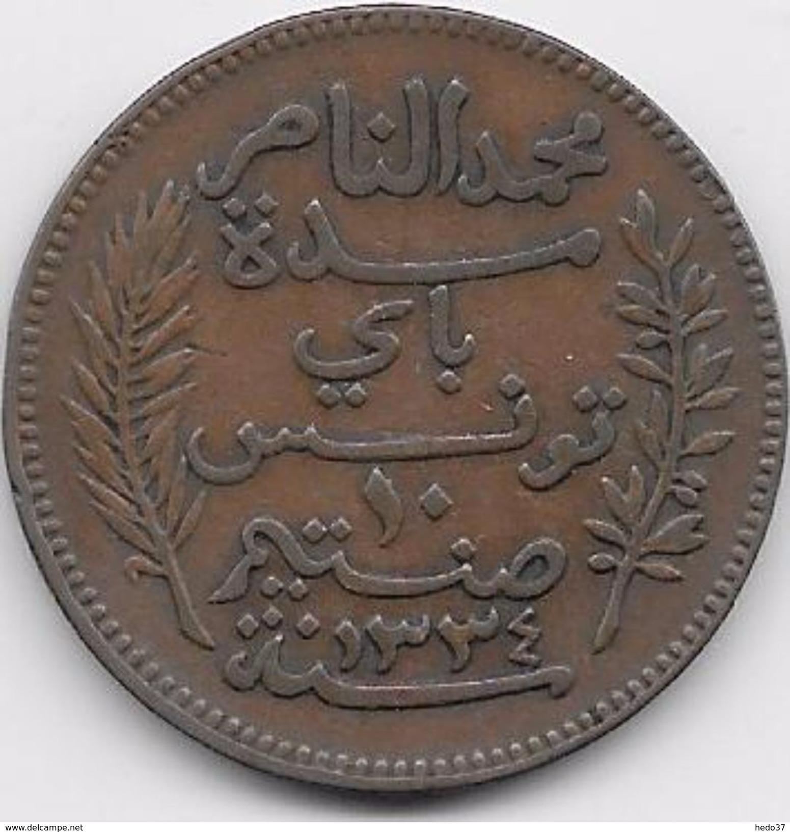Tunisie 10 Centimes 1916 - Monnaies