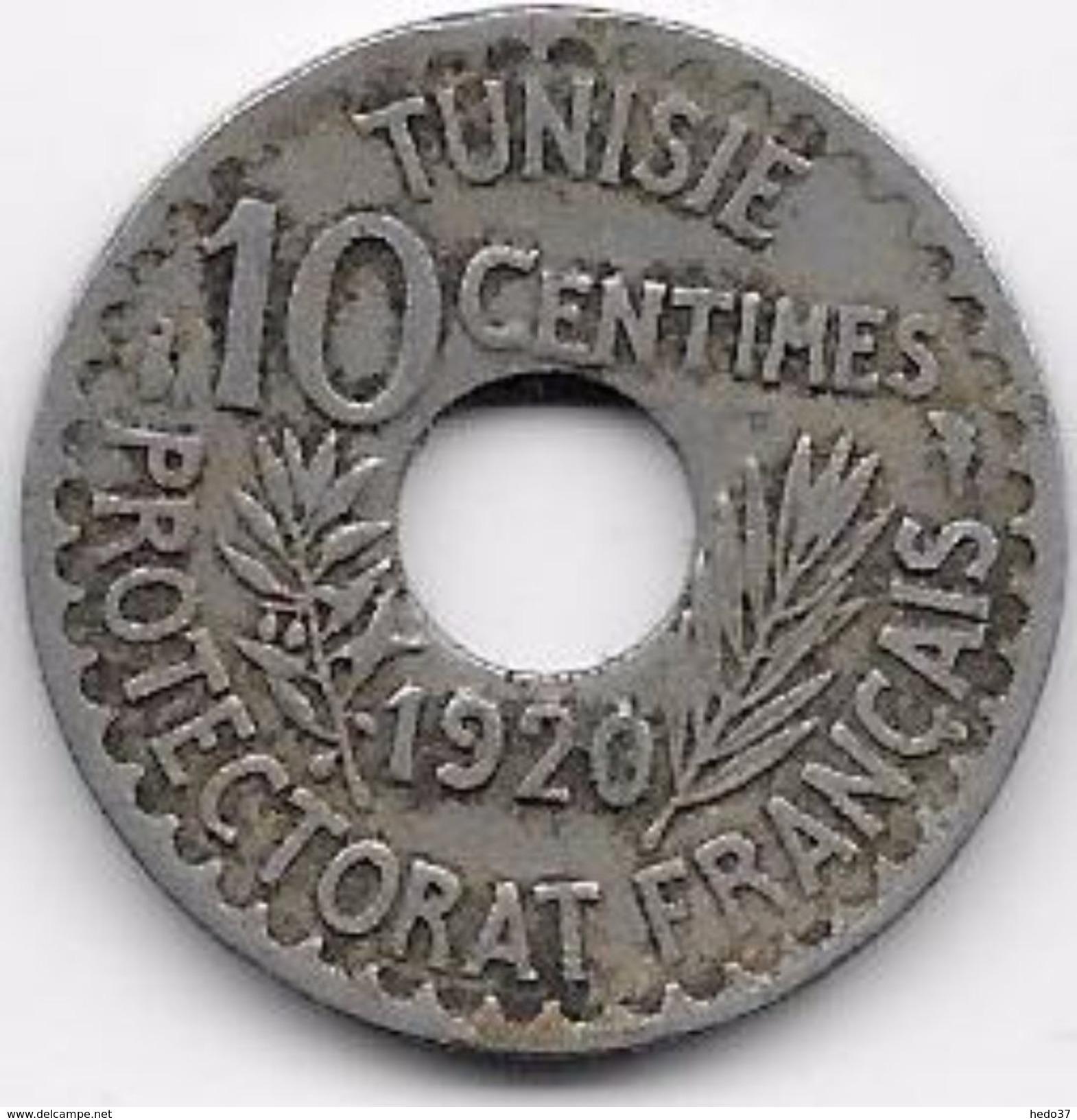 Tunisie 10 Centimes 1920 - Monnaies