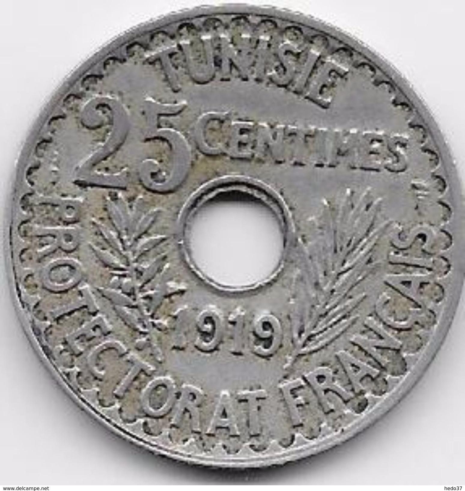 Tunisie 25 Centimes 1919 - Monnaies