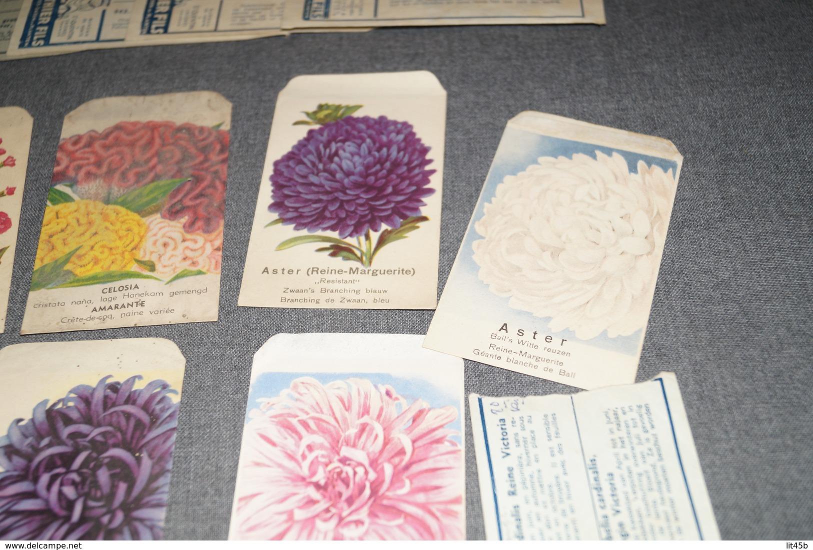 Très Beau Lot D'ancien Paquets De Semences (20),Fleurs,graines,Gonthier,etc...1947 Avec Facture D'époque,jardinage - Publicités