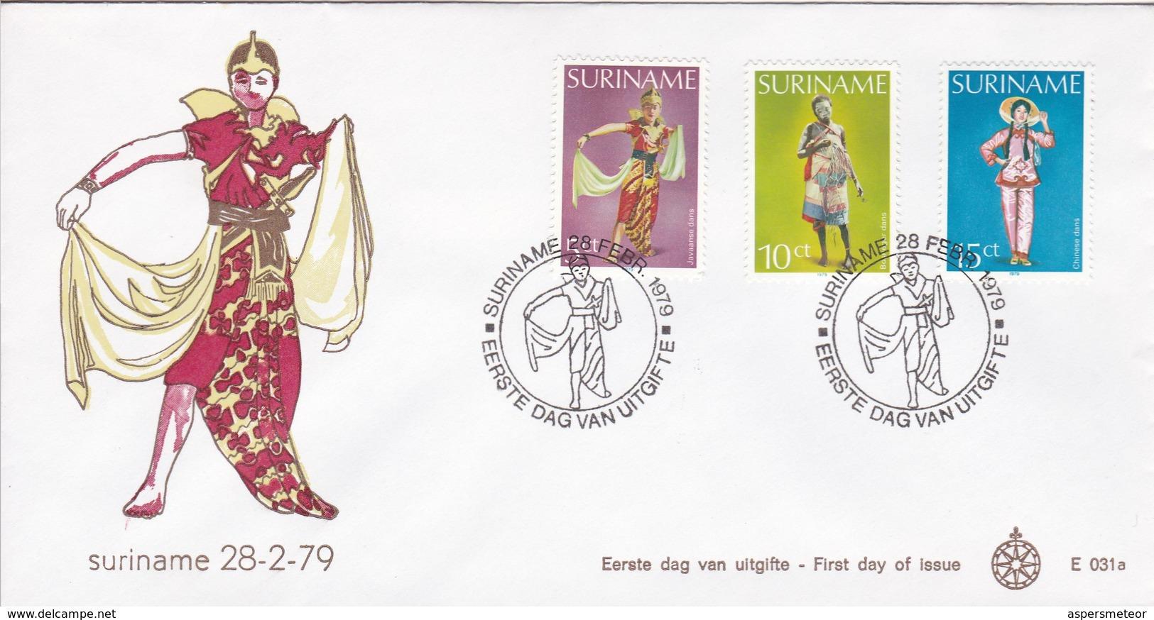 DANS/BAILES. SURINAM/SURINAME - CIRCA 1979 - FDC - BLEUP - Surinam
