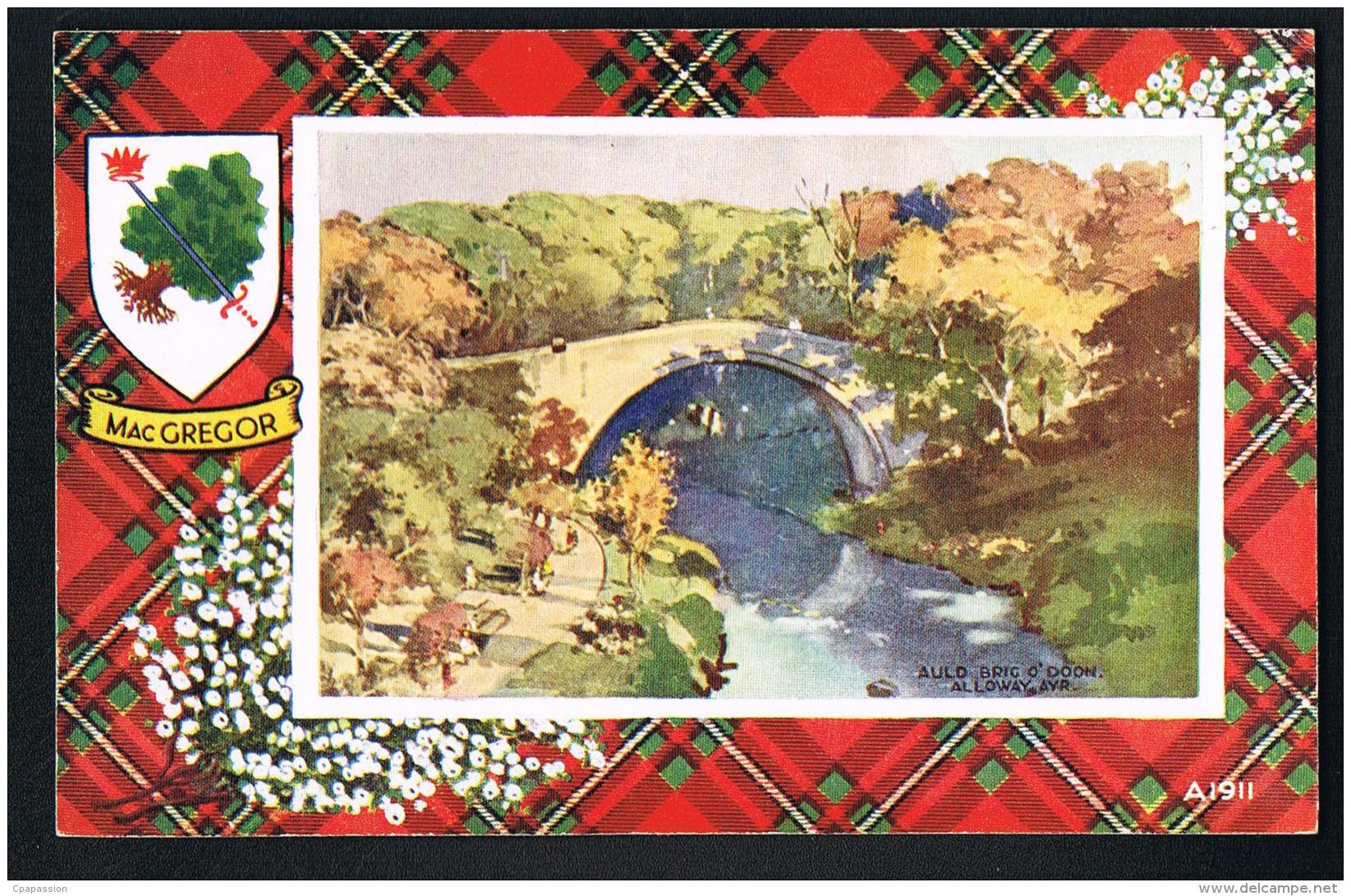 AULD BRIG O'DOON- ALLOWAY   - AYRSHIRE -   Scans Recto Verso-   Paypal Free - Ayrshire