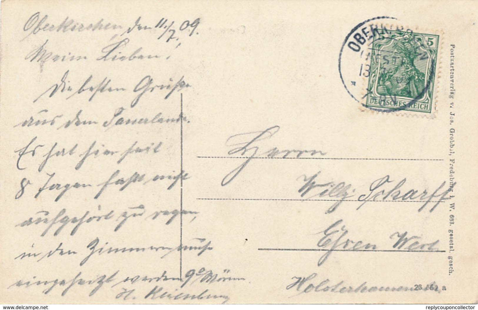 OBERKIRCHEN - 1909 , Im Winter - Allemagne
