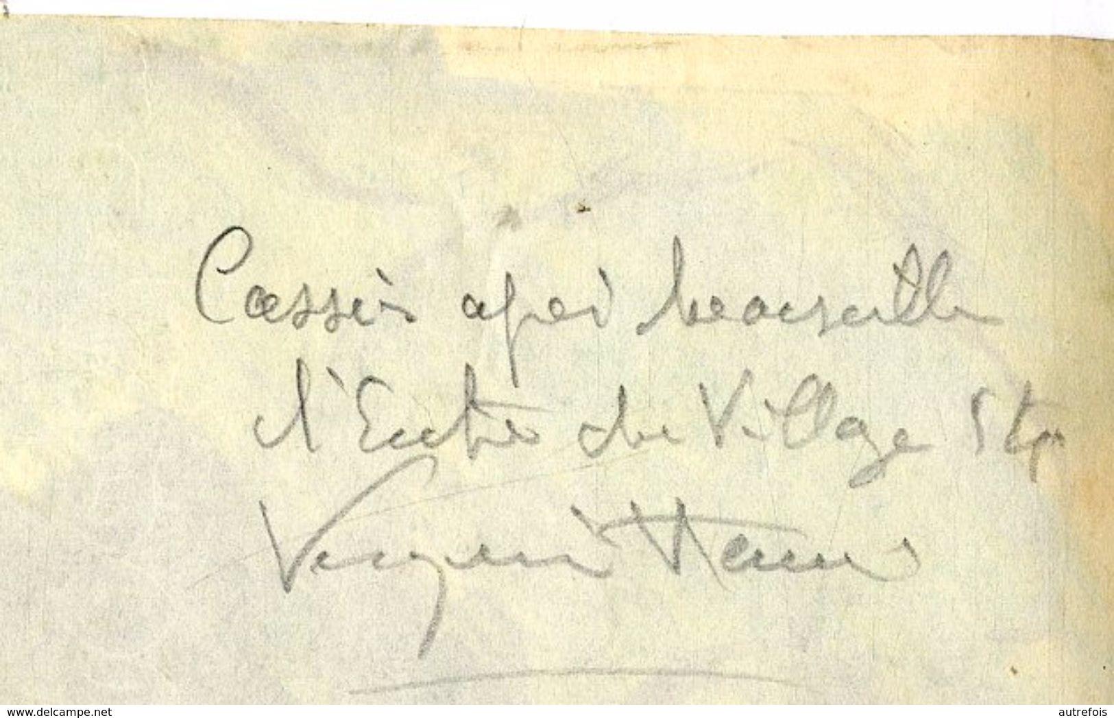 VERQUIN HENRY  - CASSIS PRES MARSEILLE    ENTREE DU VILLAGE   -  PEUT ETRE ACRYLIQUE PASTEL  VERS 1950 60 - Acryliques
