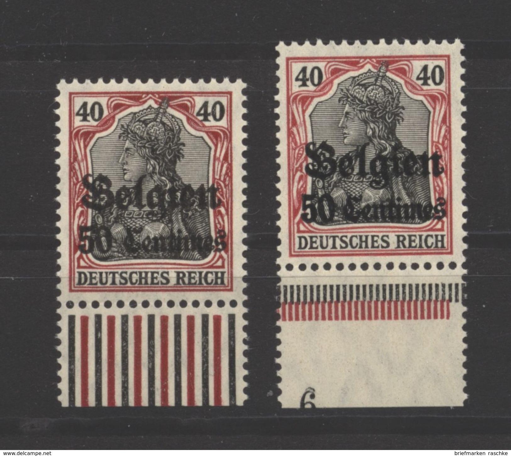 Belgien,5 I,II,UR,xx, - Besetzungen 1914-18