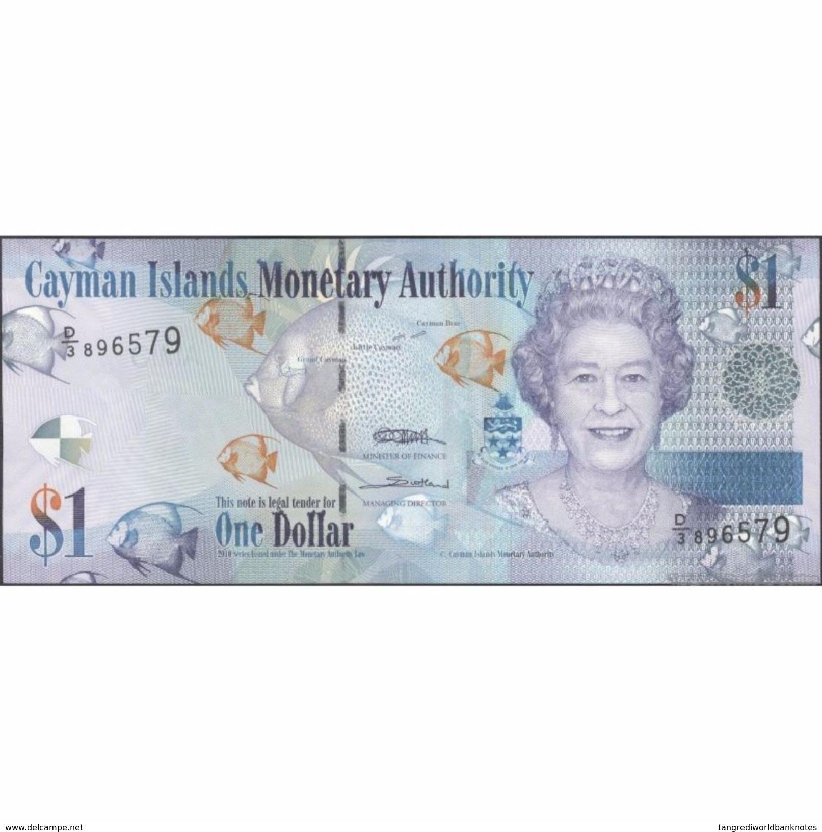TWN - CAYMAN ISLANDS 38c - 1 Dollar 2010 Prefix D/3 UNC - Cayman Islands