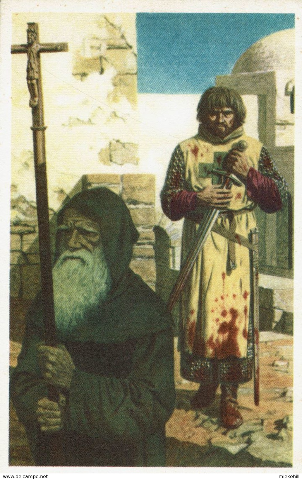 CROISADE-ROBERT DE JERUSALEM COMTE DE FLANDRE-religion-ILLUSTRATEUR HUENS- - Histoire