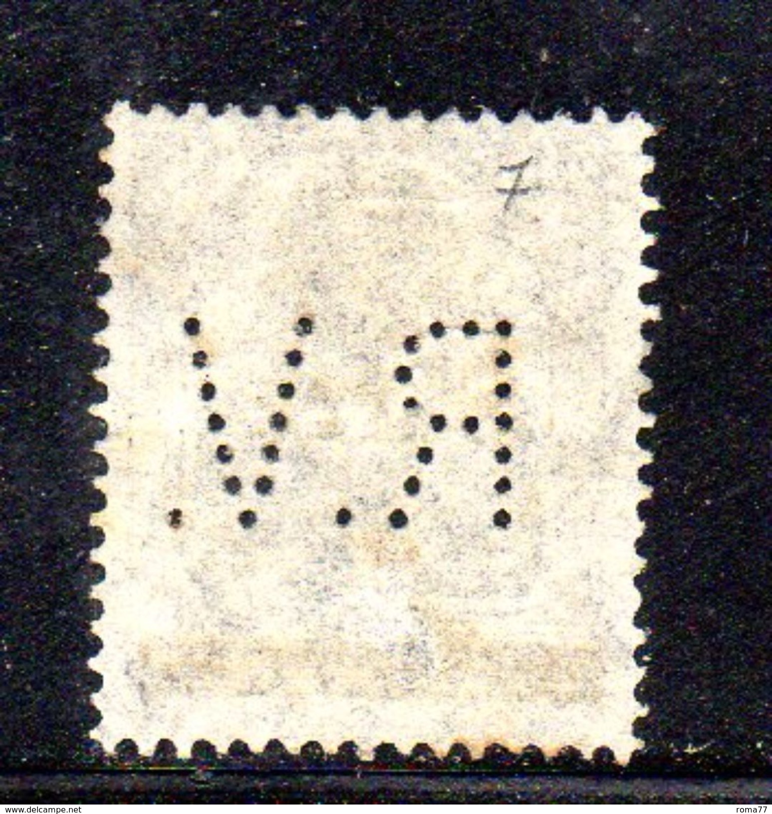 XP3357 - SARRE 1920  PERFIN PERFINS ,  15 P. Usato . - 1920-35 Società Delle Nazioni