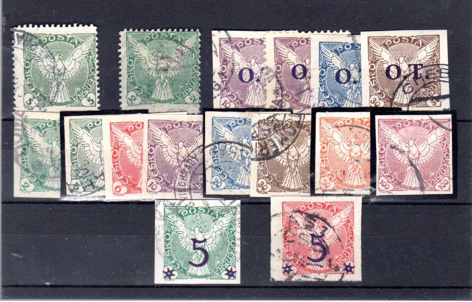 1919 Les Aigles Complet Y 1-8+12-13 ( Compris 4a-5a-6a +dentelé 1-2 -4a ) - Newspaper Stamps