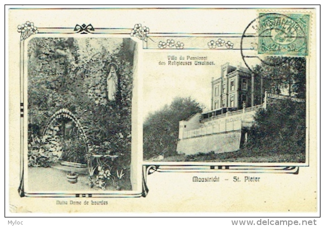 Maastricht. St.Pieter. Notre Dame De Lourdes Et Villa Du Pensionnat Des Religieuses Ursulines. - Maastricht