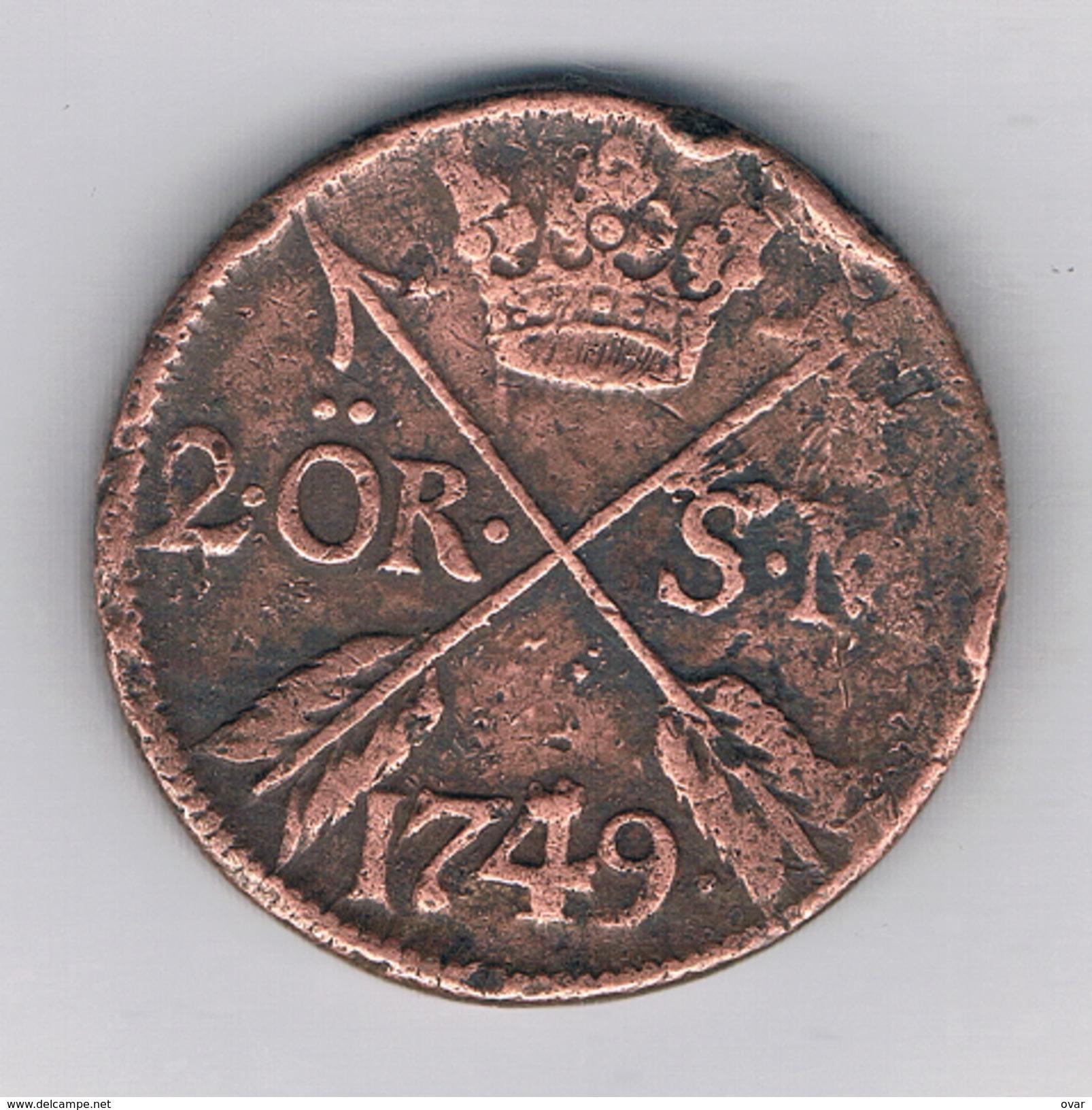 2 ORE 1749 (28,30gramm) (mintage 313000ex.) ZWEDEN /1025E/ - Suède