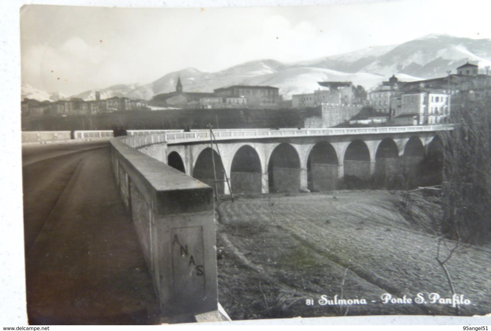 SULMONA (L'AQUILA) - PONTE S.PANFILO - L'Aquila