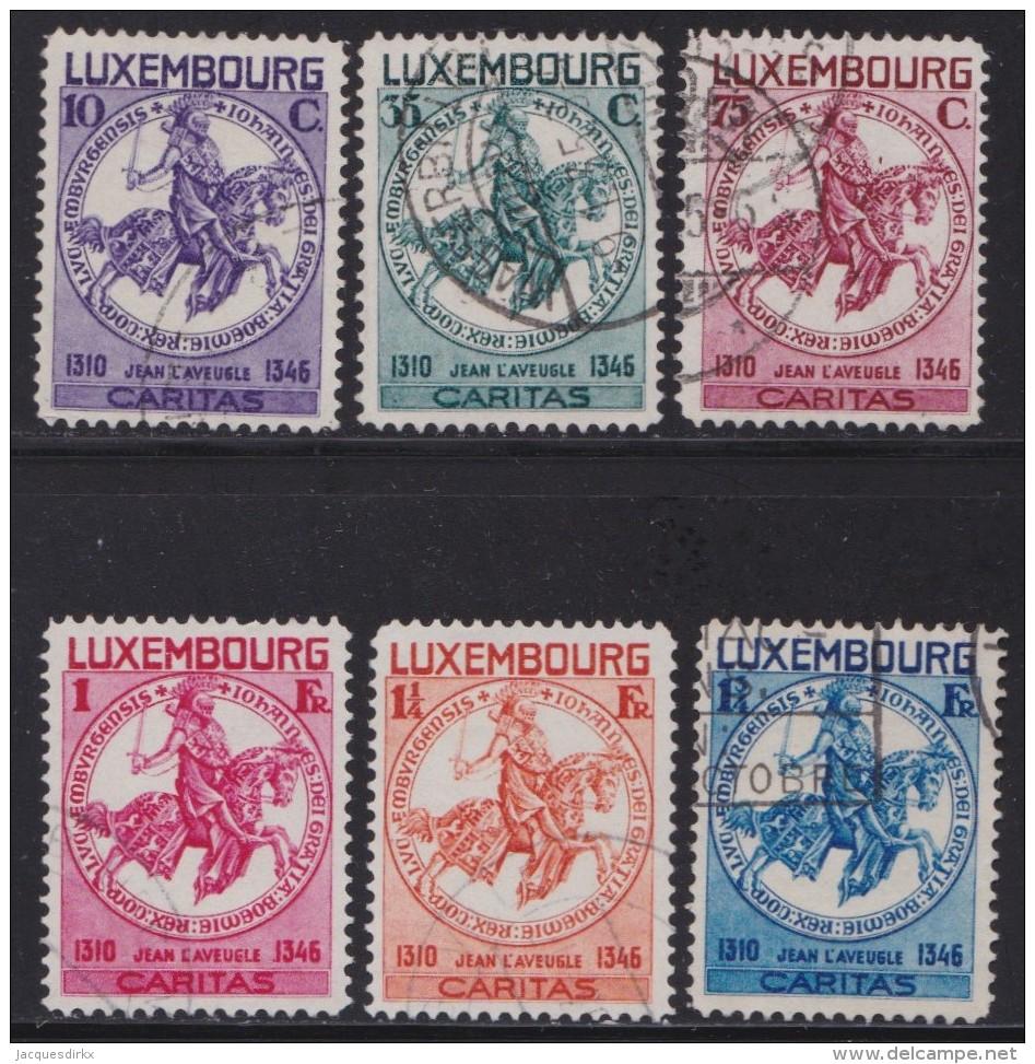 Luxemburg   .    Yvert   .   252/257     .    O     .          Gebruikt  .   /   .   Oblitéré - Gebruikt
