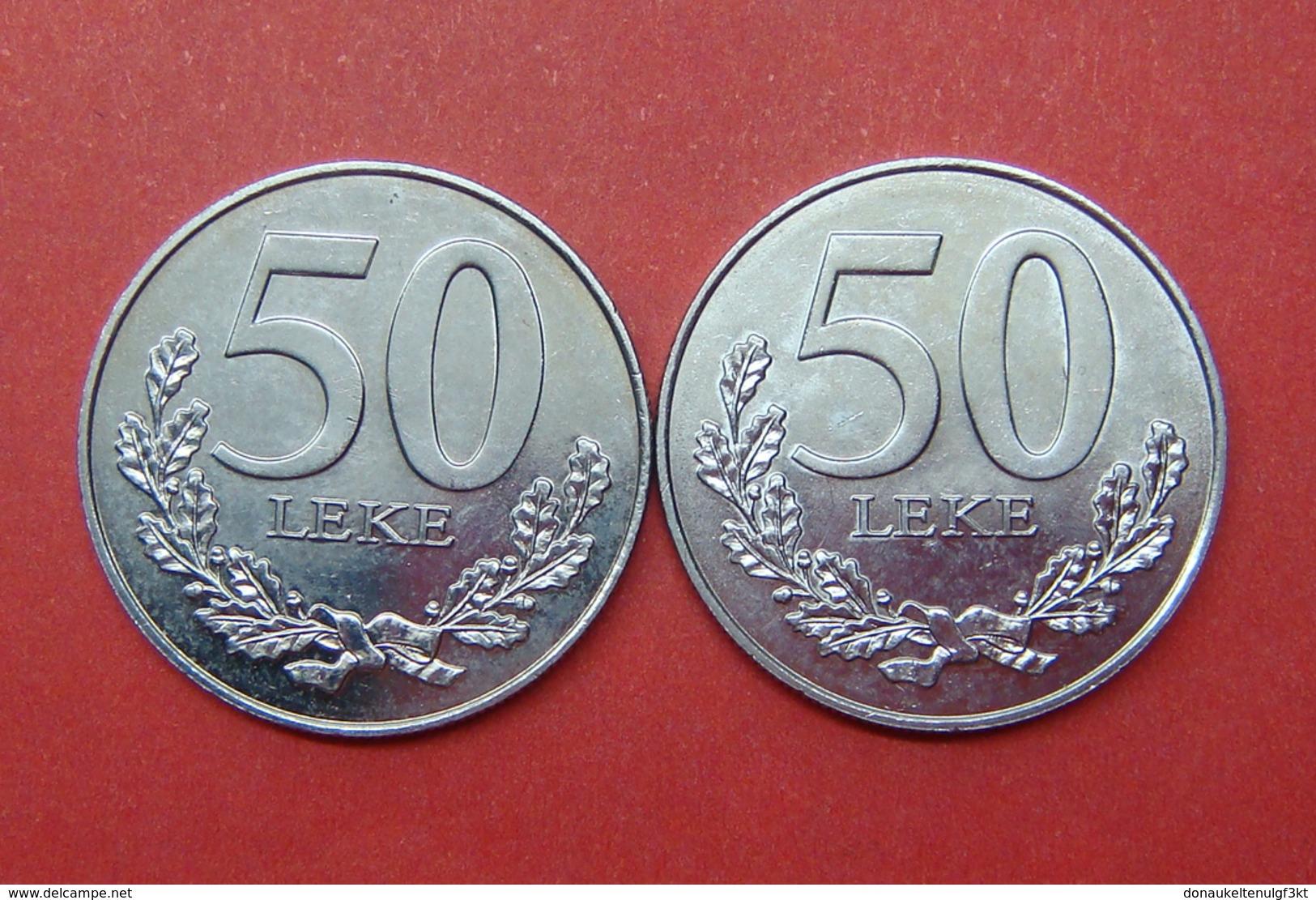 ALBANIA 2 X 50 LEKE 2000, UNC - Albania