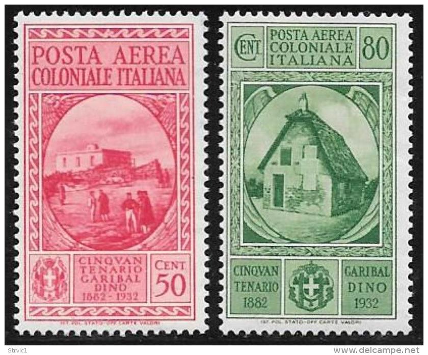 Italian Colonies General, Scott # C8-9 Mint Hinged Garibaldi, 1932 - Italy