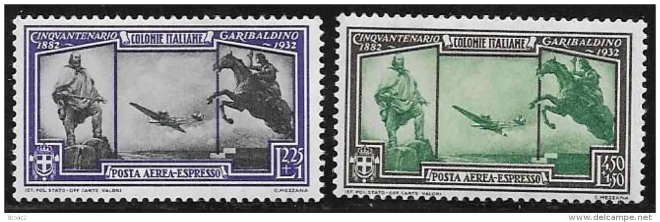 Italian Colonies General, Scott # CE 1-2 MNH Special Delivery Garibaldi, 1932 - Italy