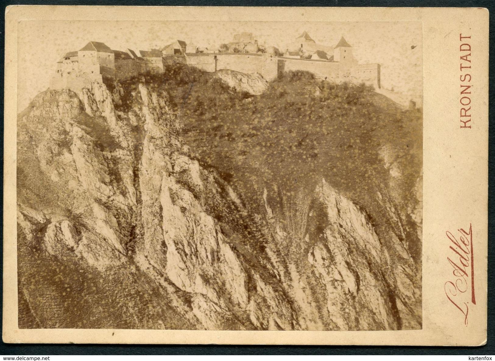 Foto, Kronstadt, Brasov, Burg Rosenau, Rasnov, Foto Um 1890, Siebenbürgen,  L. Adler - Rumänien