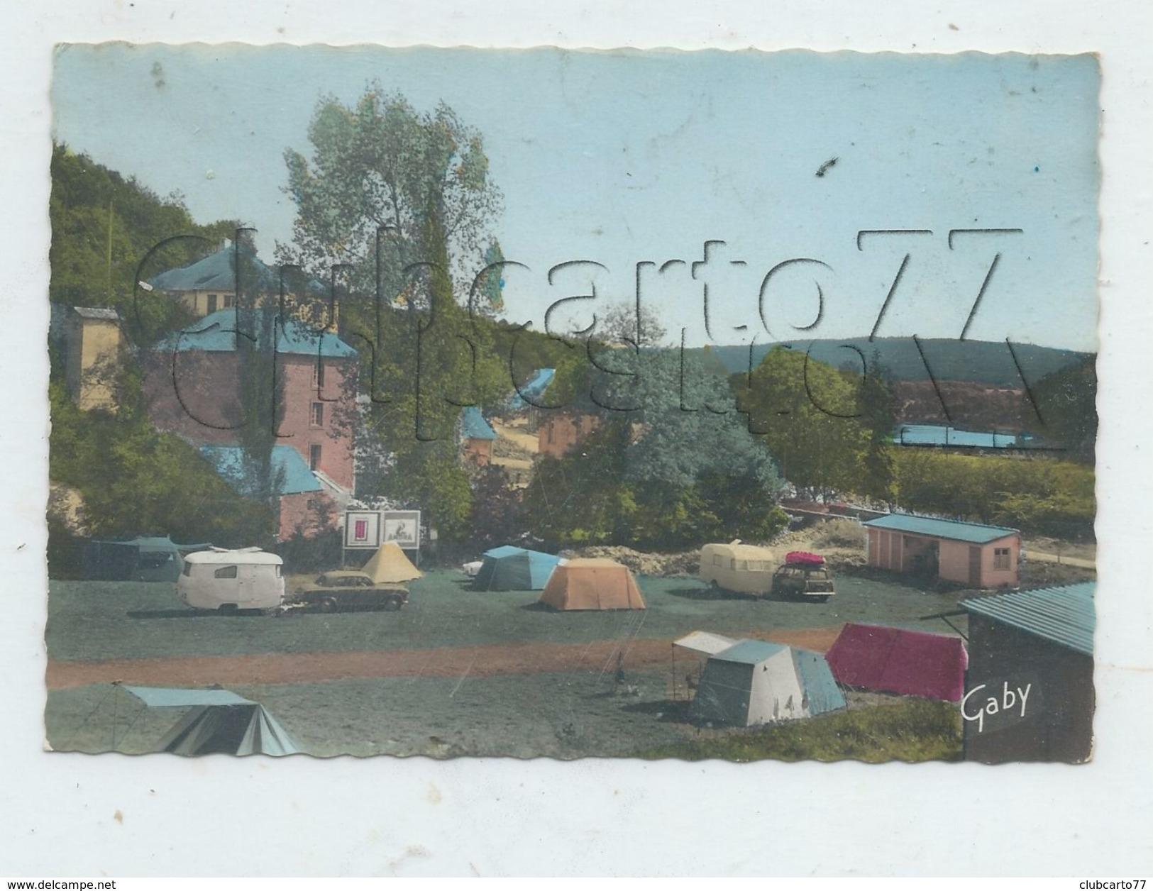 Châteauneuf-du-Faou (29) :Vue Intérieur Du Camping Du Pont-du-Roy En 1960 GF. - Châteauneuf-du-Faou