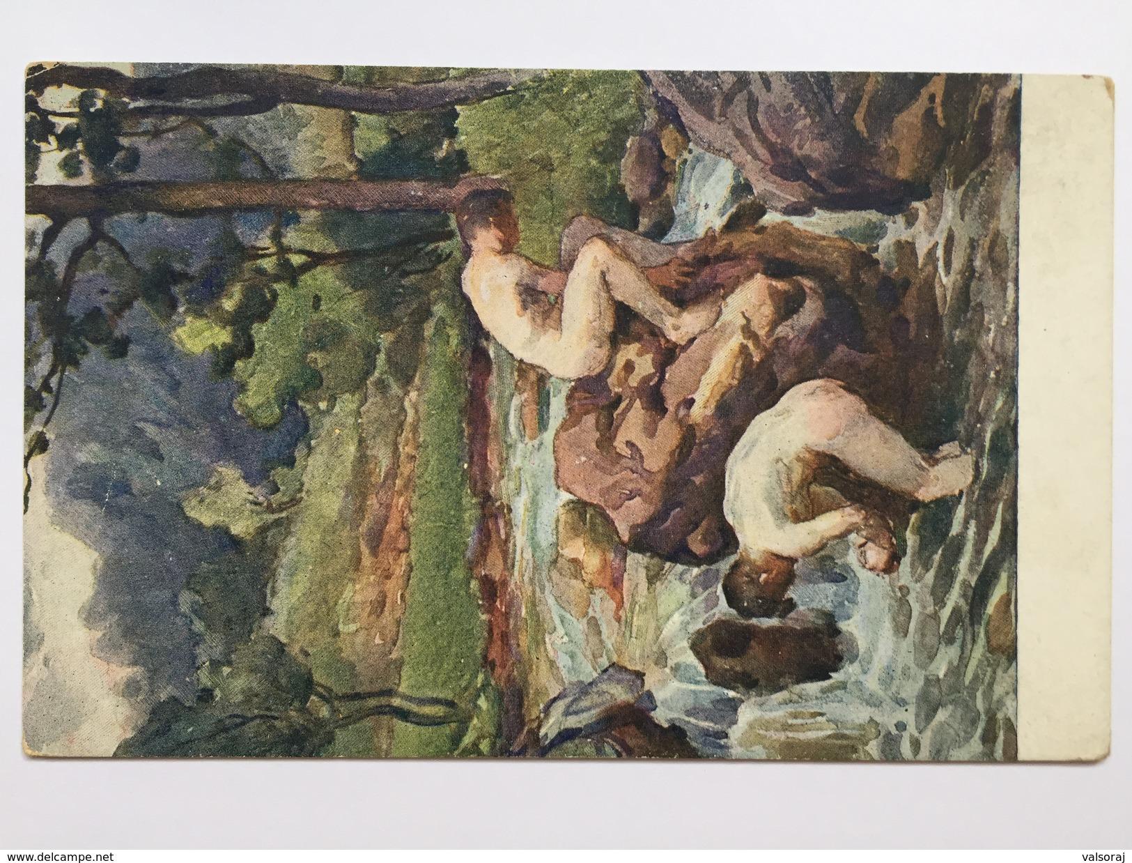 5 Prima Guerra (pittore Bartoš) - Scouting Partol Astico Bath - Italien