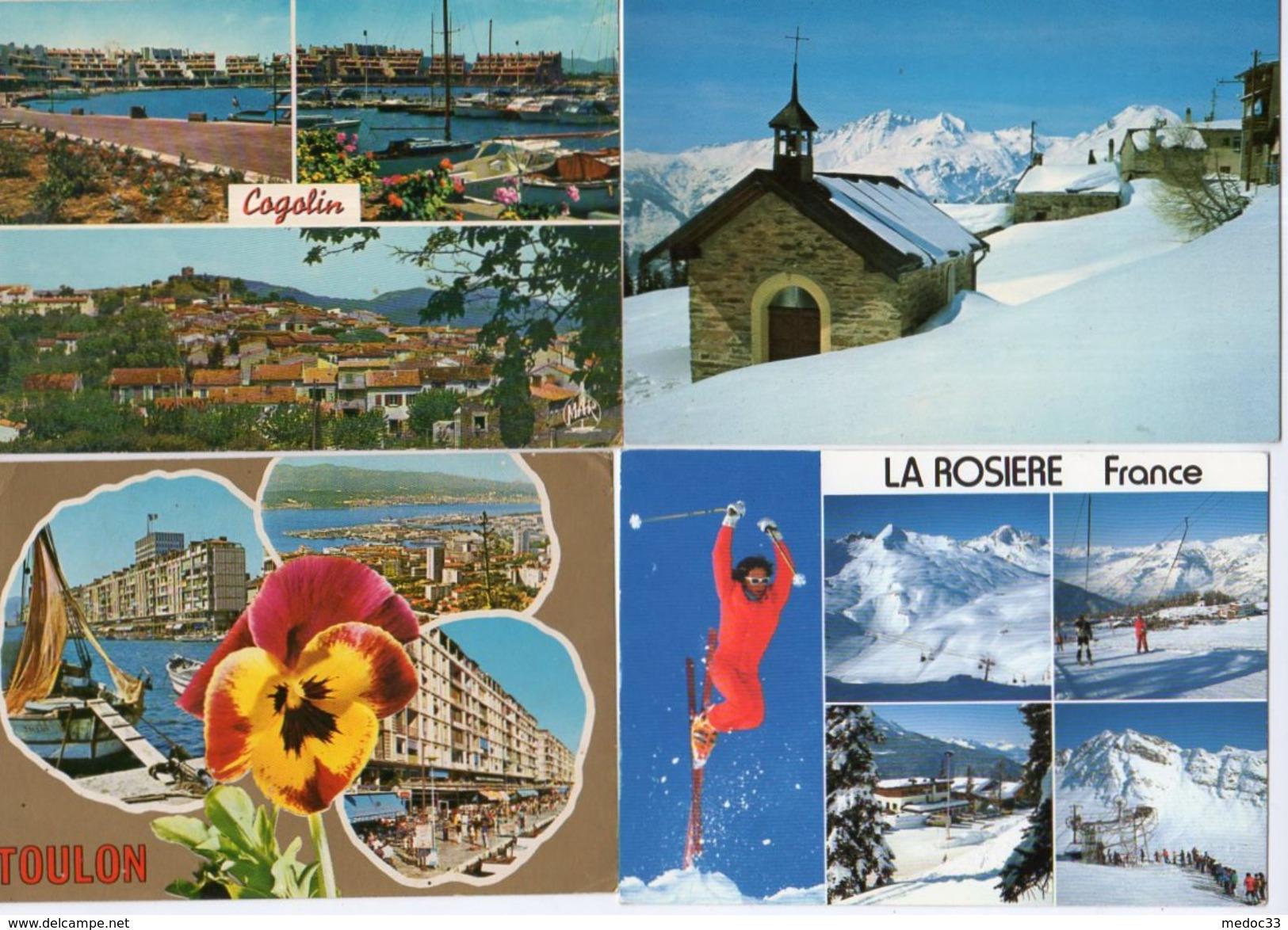 Lot De 500 Cartes De France (400 Cpm Et 100 Cpsm GF) - Cartes Postales
