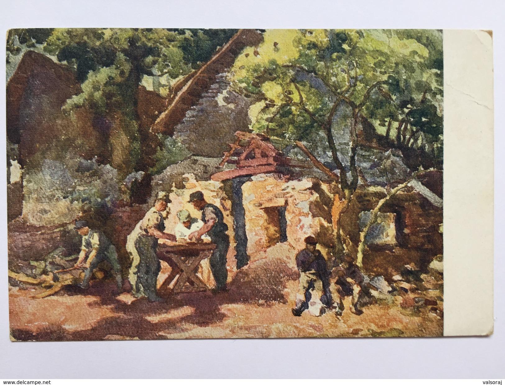 21 Prima Guerra (pittore Bartoš) - Valdagno - Vicenza
