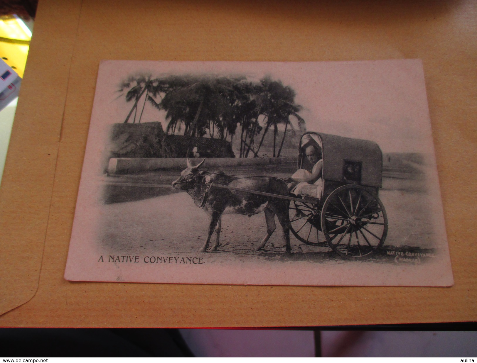Cpa Asie Anciennes Colonies A Native Conveyance - Autres