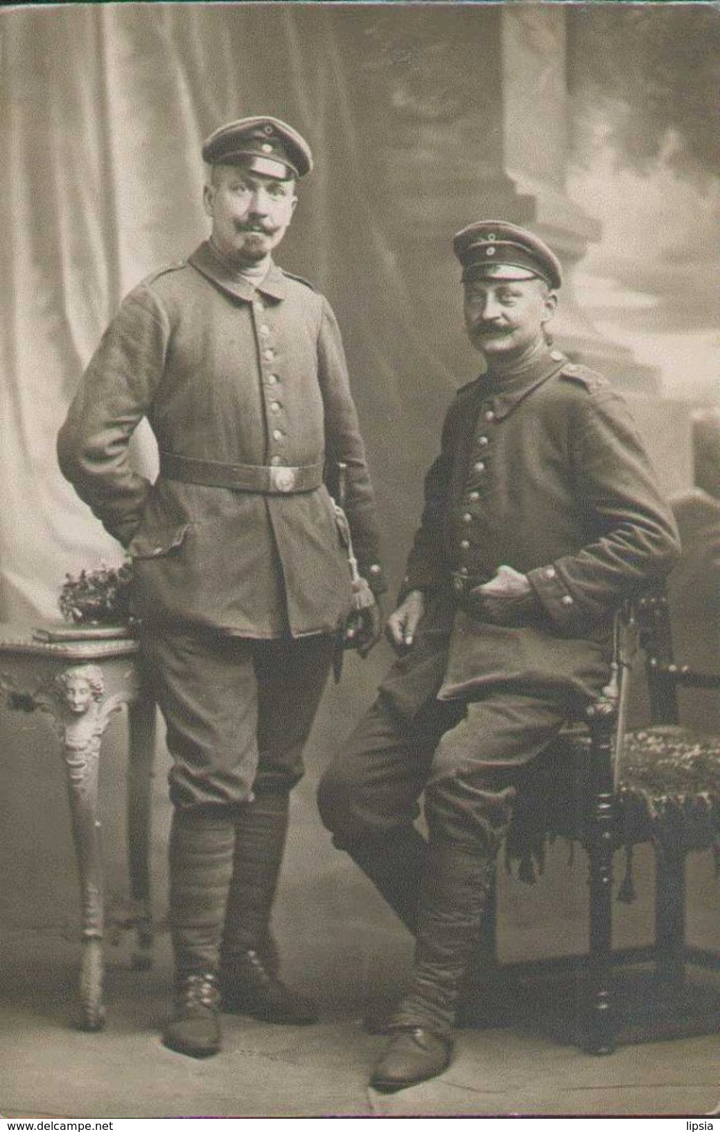 Soldaten-Portrait, Telegrafen-Bataillon 5, In Cambrai, Foto-Postkarte, Militär, Deutsches Reich, Weltkrieg 1916 - Guerre 1914-18