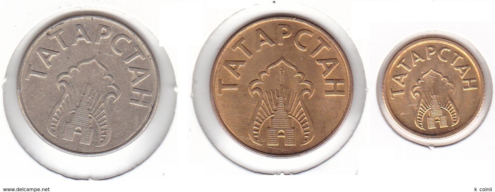 Tatarstan - Set Of 3 Coins 1993 - Tatarstan