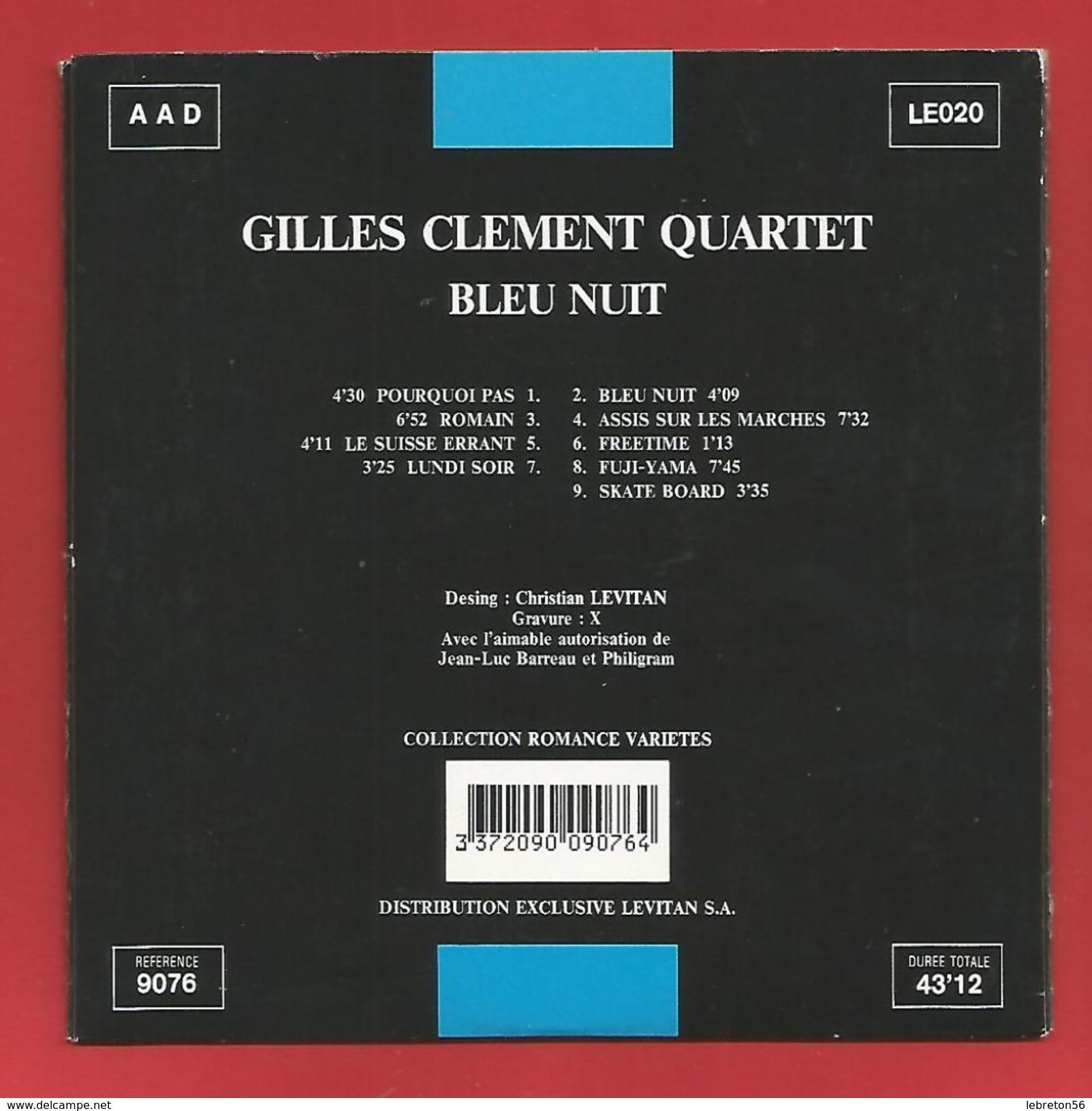 """C D  """" Collection Romance Variétés"""" Gilles Clément Quartet,Bleu Nuit   (voir 2 Photo) - Musik & Instrumente"""