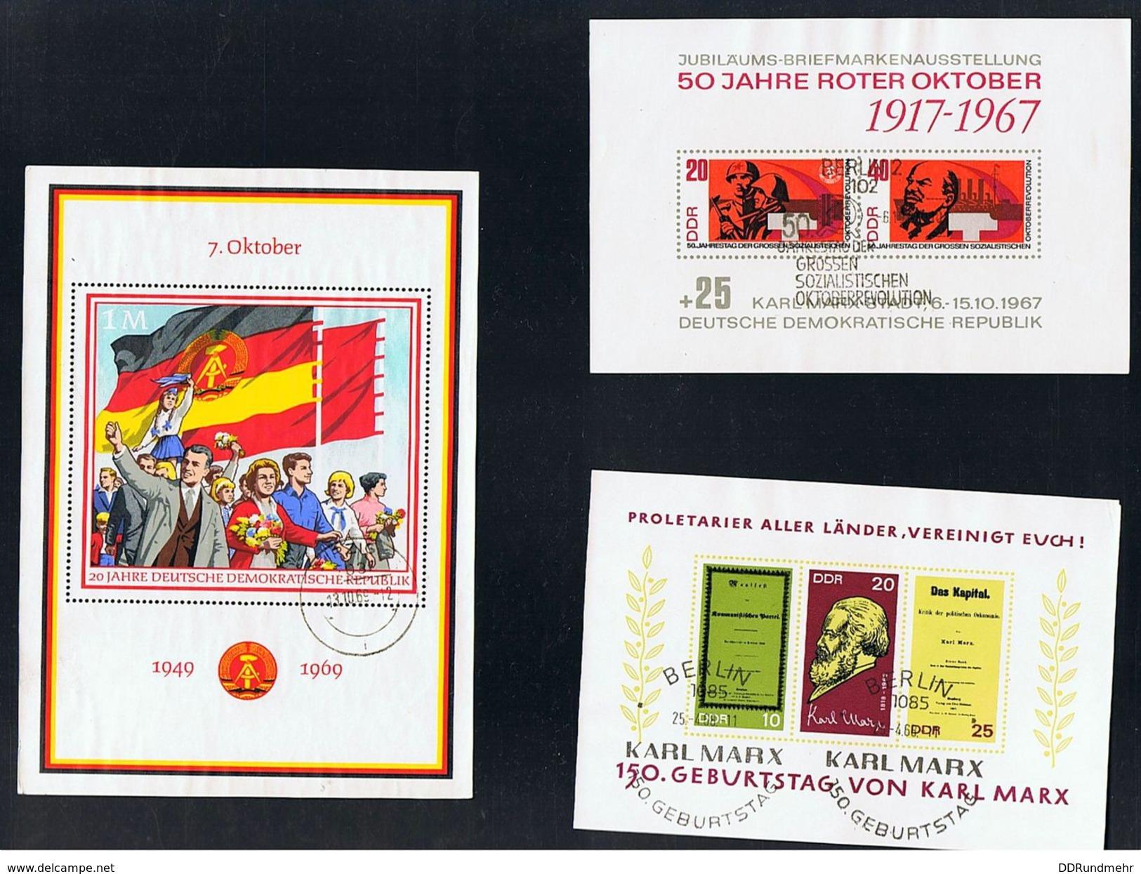 Schönes Lot, 78  Blöcke, Alles Gestempelt, 1960 Bis 90, Fast Komplett, Siehe Aufstellung Und Scan - DDR