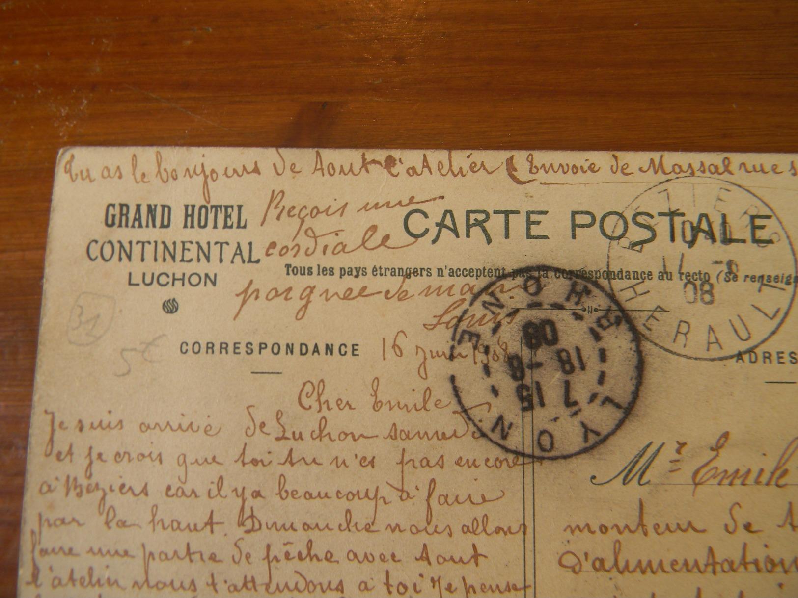 Luchon Grand Hotel Continental Le Hall D' Entrée - Luchon