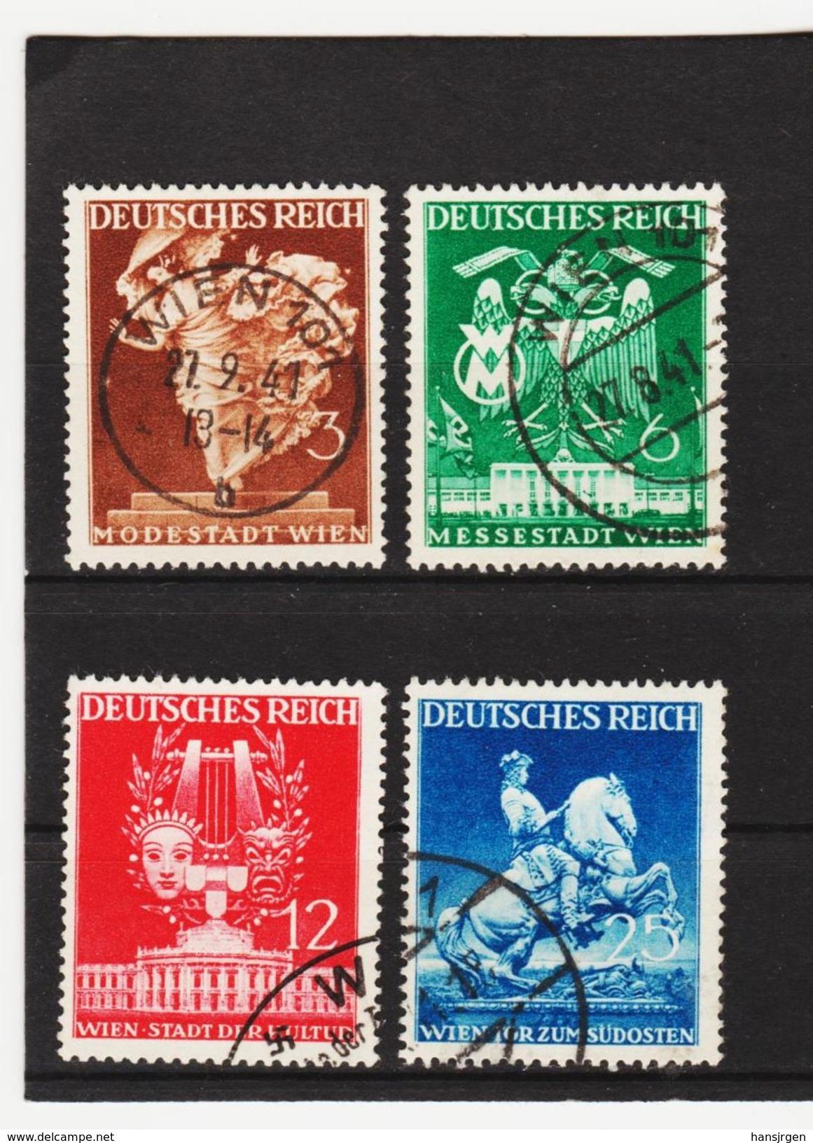EBA630  DEUTSCHES REICH 1941  MICHL 768/71  Used / Gestempelt Siehe ABBILDUNG - Deutschland
