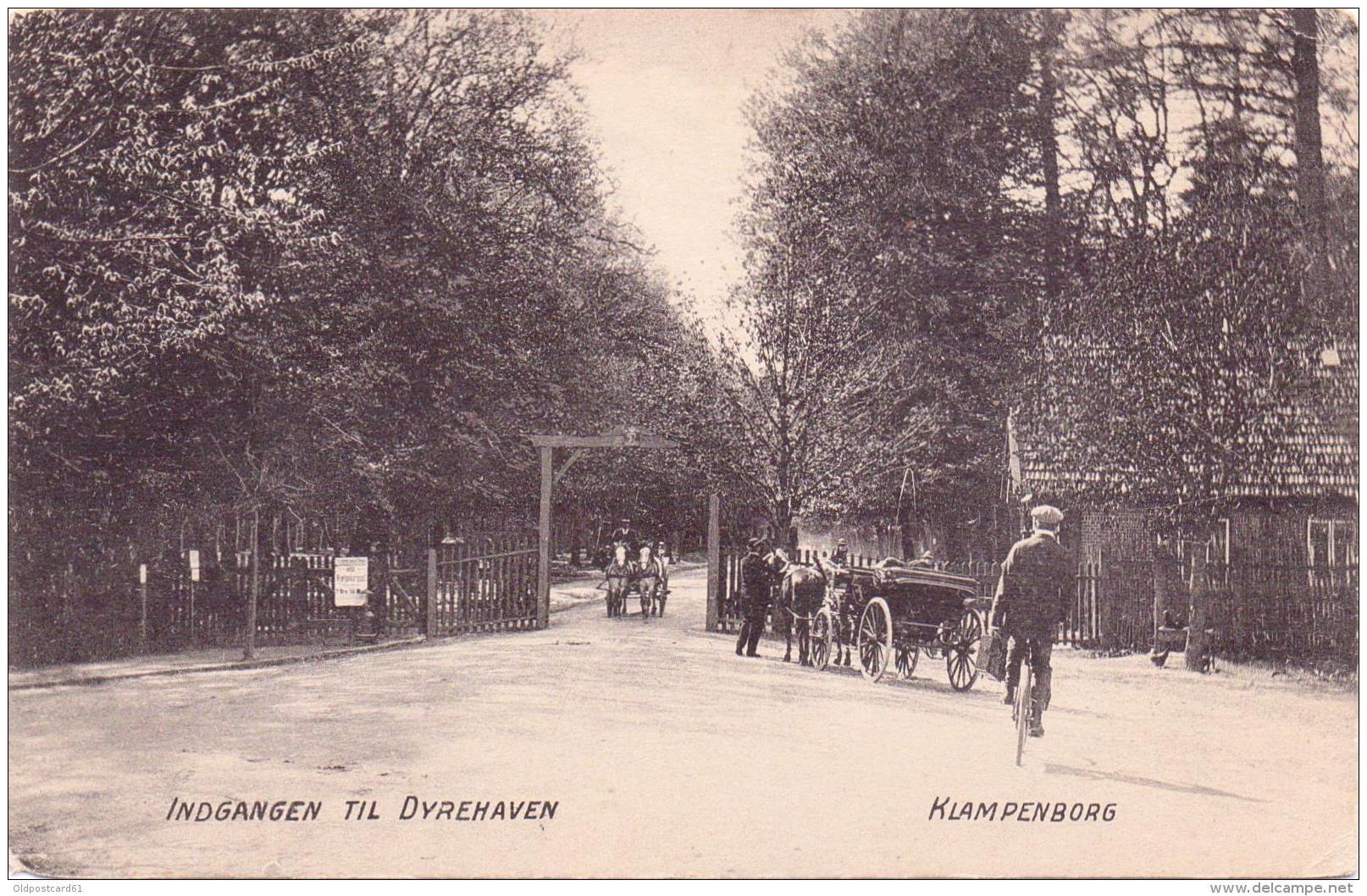ALTE AK   DYREHAVEN - Klampenborg - Kopenhagen / Dänemark  - Indgang Til ...  - Ca. 1905 - Danemark