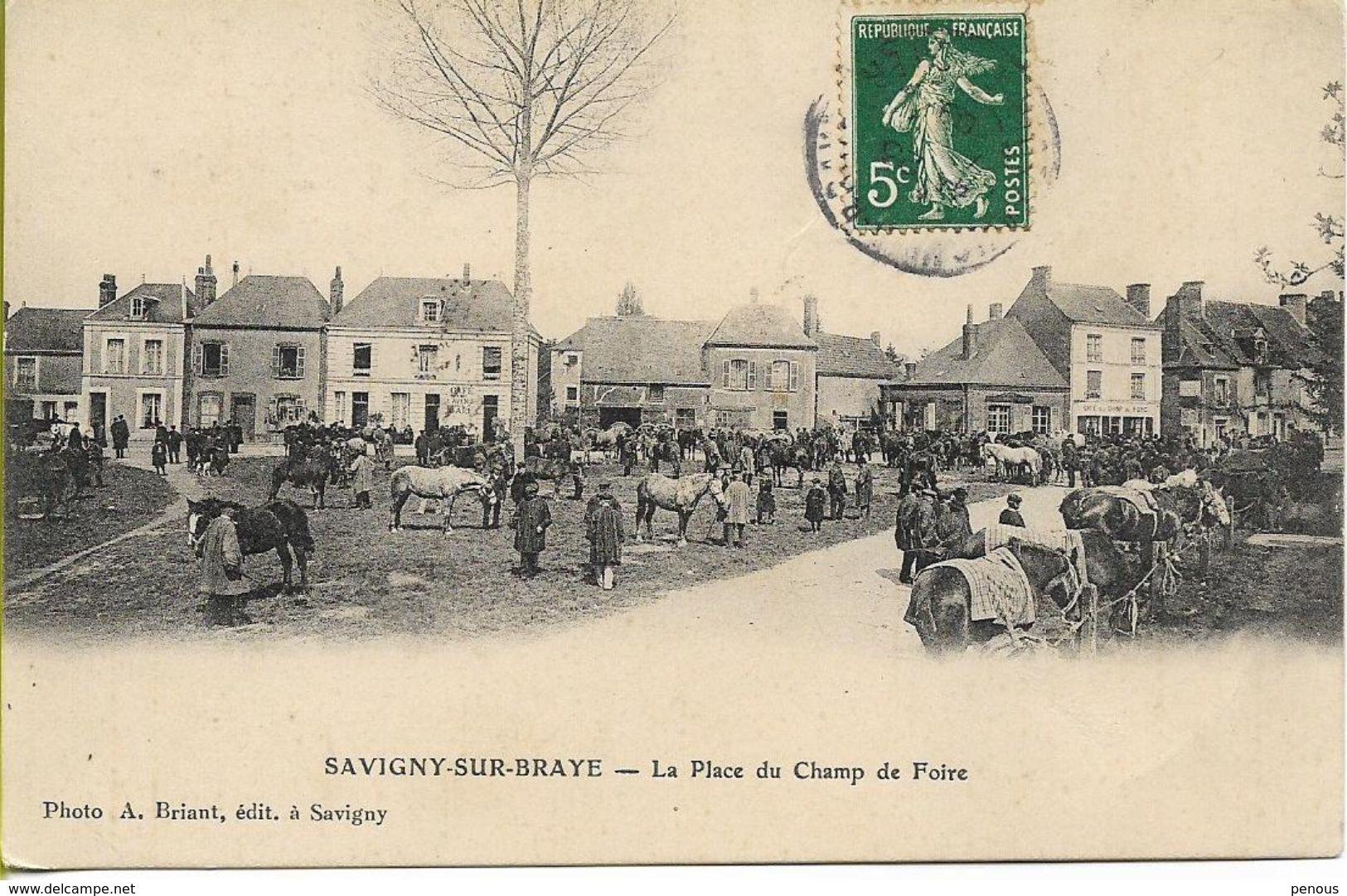 SAVIGNY SUR BRAYE   La Place Du Champ De Foire (marché Aux Chevaux) - France