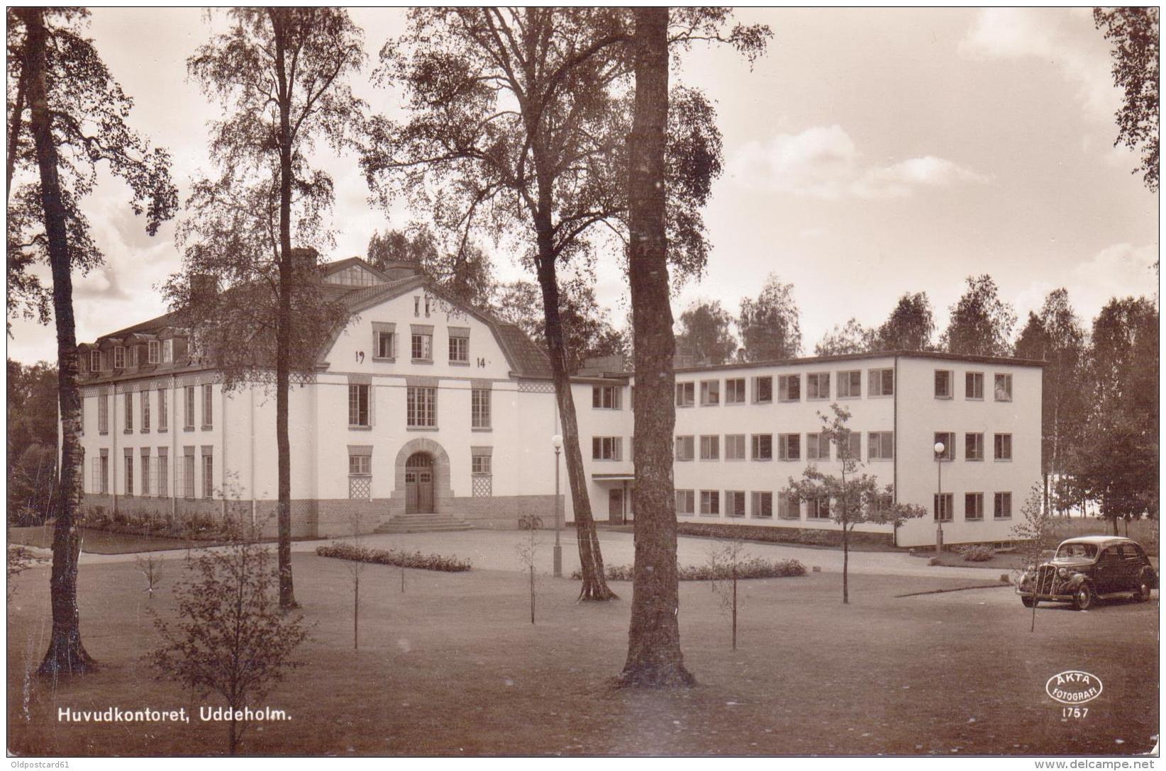 ALTE  Foto- AK   UDDEHOLM / Schweden  -  Huvudkontoret  -  Ca. 1930 - Zweden