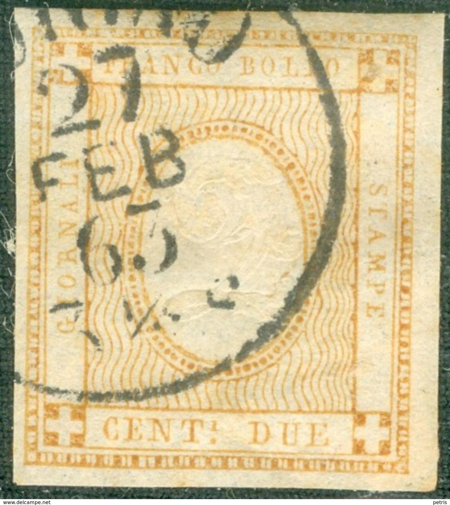 Italy 1862 Cifra In Rilievo 2 C. - Lot. RE10 - 1861-78 Vittorio Emanuele II