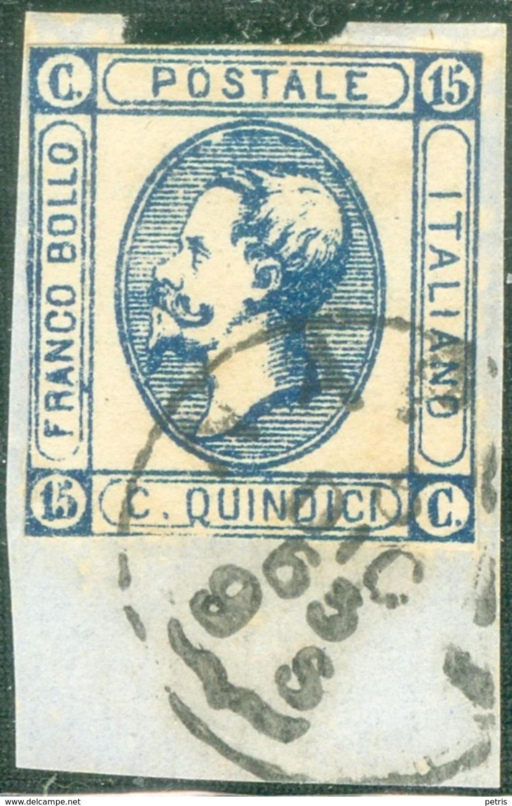 Italy 1863 Effige V. Emanuele Medaglione 15 C. 2° Tipo - Lot. RE13 - Usati
