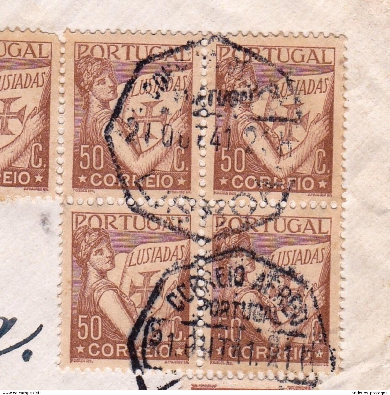 Lettre Portugal Lisboa Lisbonne Timbre Lusiadas Gstaad Suisse - 1910-... République